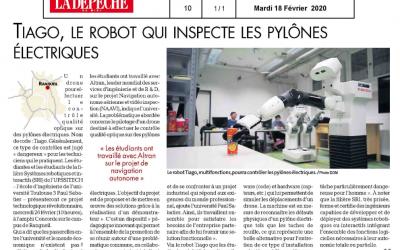 Les élèves ingénieurs UPSSITECH de la filière SRI développent le futur robot d'inspection des pylônes électriques